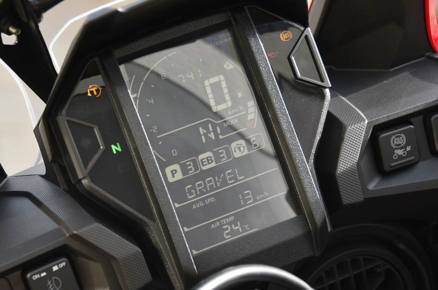 Honda Africa Twin DCT instrument cluster