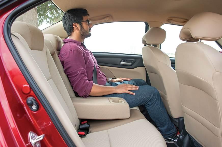 Honda Amaze rear seats