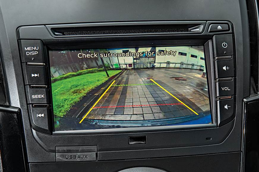 Isuzu D-Max V-Cross automatic rear parking camera