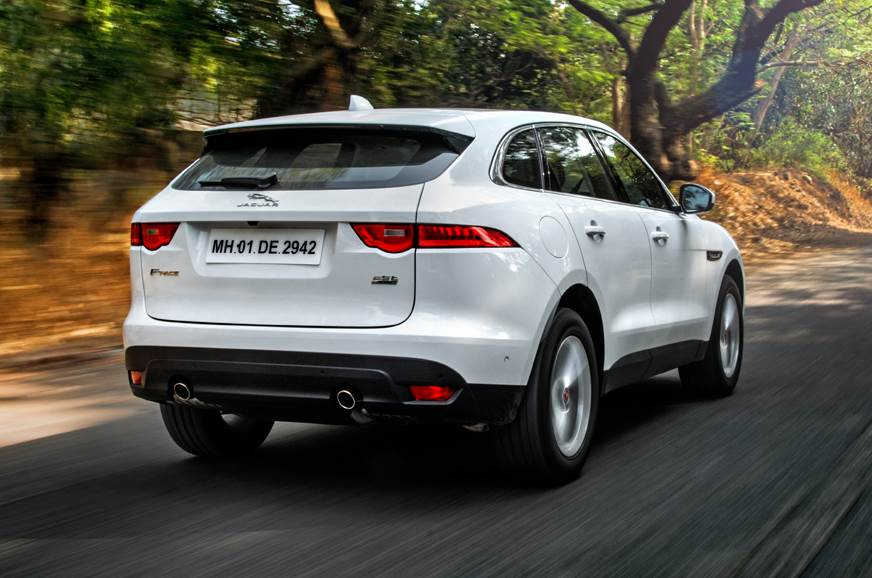 Jaguar F-Pace petrol rear action