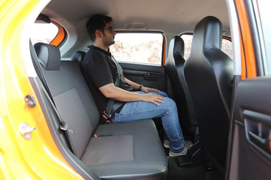 Maruti S-Presso rear seat