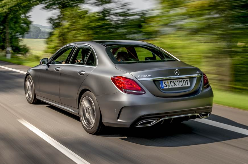 Mercedes C300d rear action