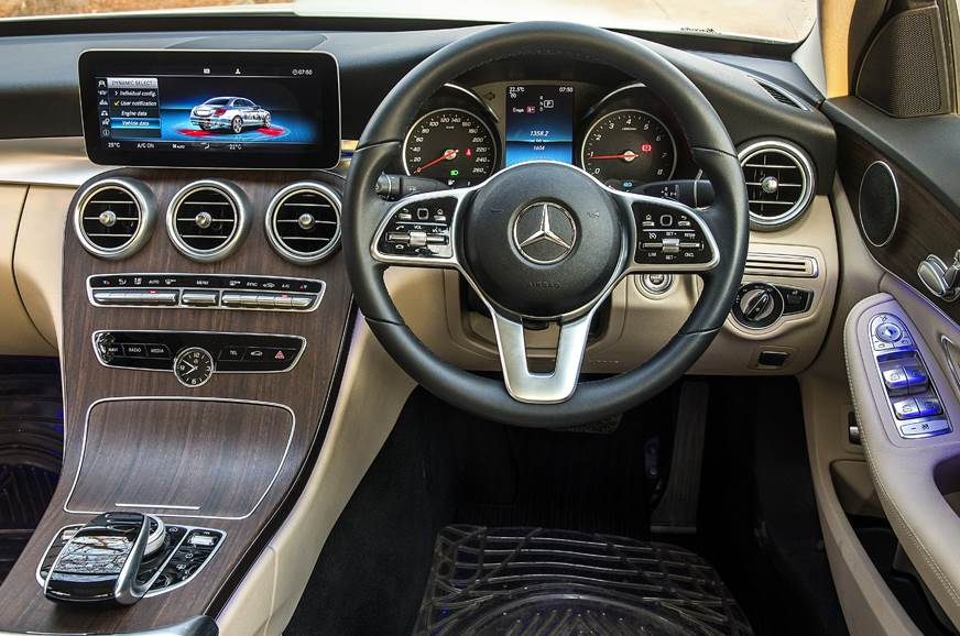 2019 Mercedes-Benz C 200 petrol infotainment steering dashboard