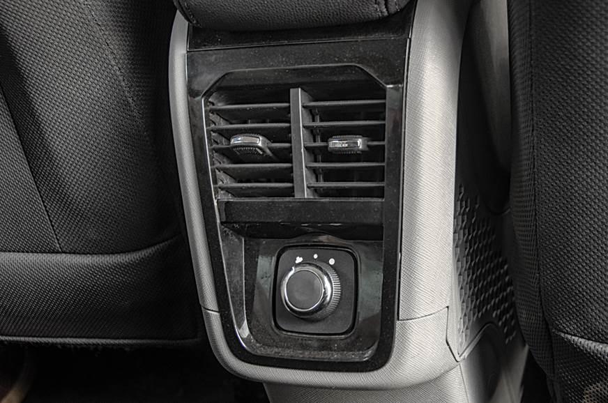 Tata Nexon rear AC vents