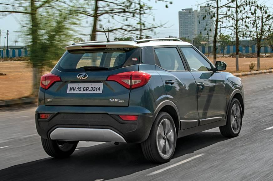Mahindra XUV300 rear action