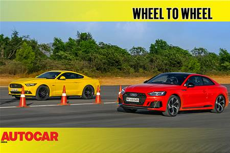 Drag Race: Ford Mustang GT vs Audi RS5