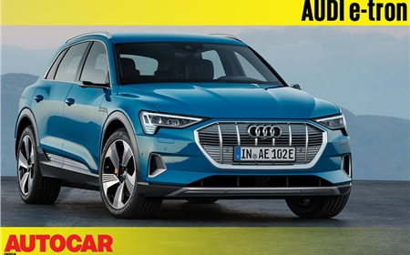 Audi e-tron SUV first look video