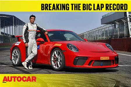 Breaking the BIC lap record in a Porsche 911 GT3 video