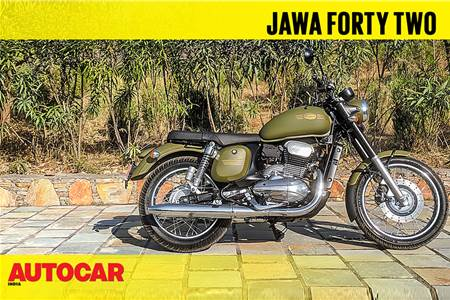 New Jawa Forty Two walkaround and engine sound video