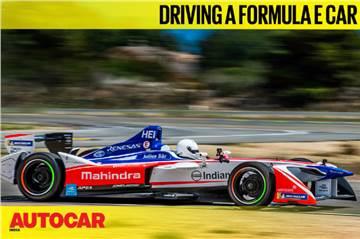 Driving a Formula E car feature video