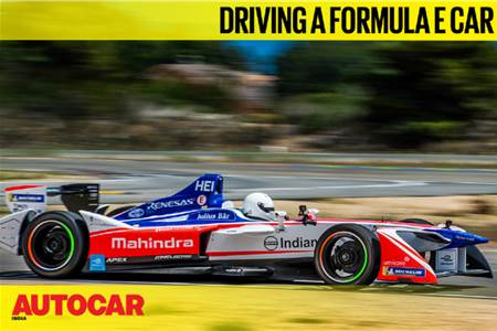 Driving a Formula E car feature video