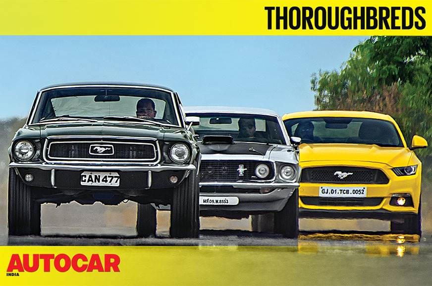 Ford Mustang GT meets its ancestors video