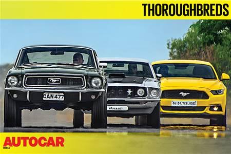 Ford Mustang GT meets its ancestors video