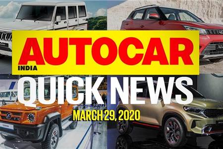 Quick News video: March 29, 2020