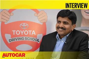 N Raja Interview at Toyota Driving School, Mumbai video