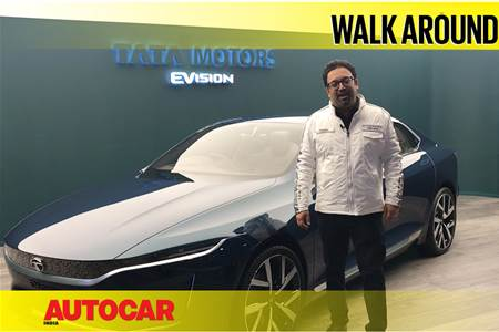 Tata EVision Sedan Concept first look video with Pratap Bose