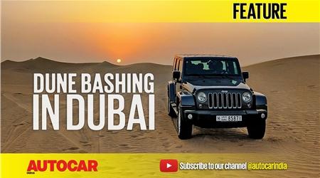 Dune bashing in Dubai in a Jeep Wrangler