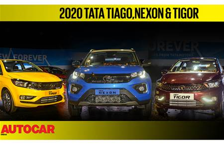 Tata Nexon, Tiago, Tigor facelift walk around video