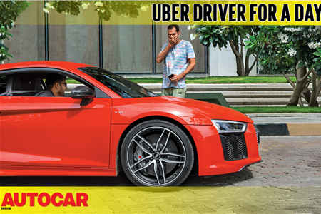 Uber driver for a day in an Audi R8 video