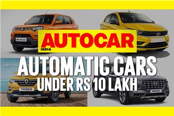 Automatic cars priced under Rs 10 lakh video