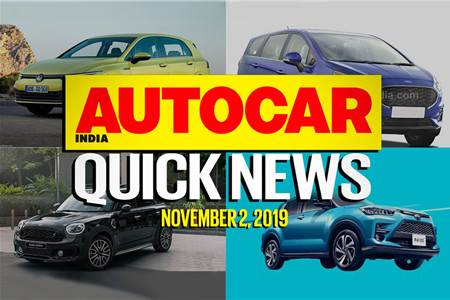 Quick News video: November 2, 2019