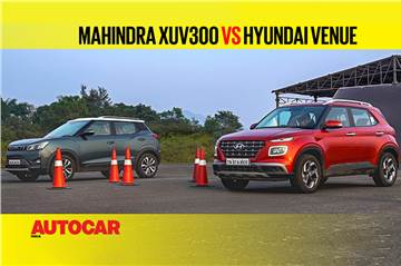 Autocar Drag Day: Mahindra XUV300 vs Hyundai Venue Drag race video
