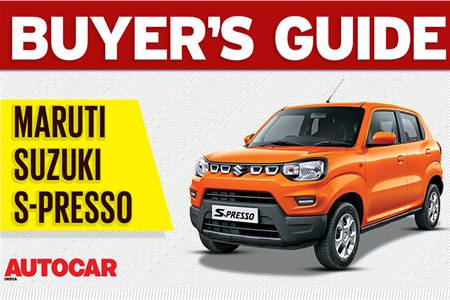 Maruti Suzuki S-presso buyer's guide video