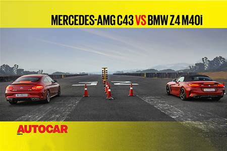 Autocar Drag Day: Mercedes-AMG C43 Coupe vs BMW Z4 M40i Drag race video