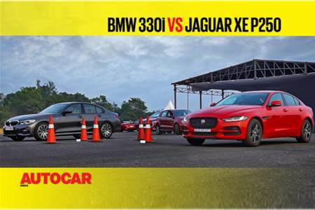 Autocar Drag Day: BMW 3 Series vs Jaguar XE Drag race video