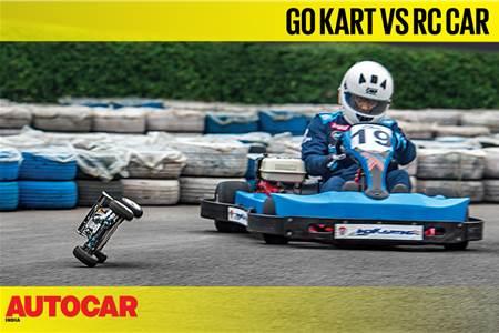 Go Kart vs Nitro RC Car video