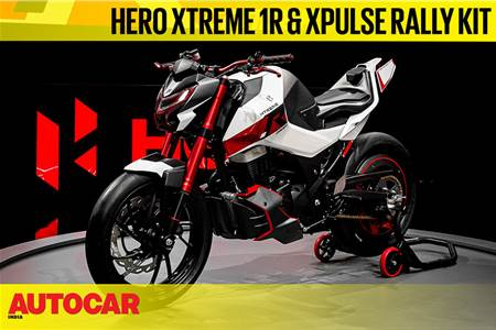 Hero Xtreme 1.R Concept and Xpulse 200 Rally Kit first look video