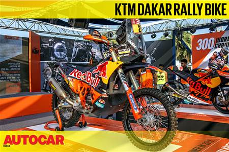 KTM Dakar Rally Bike first look video