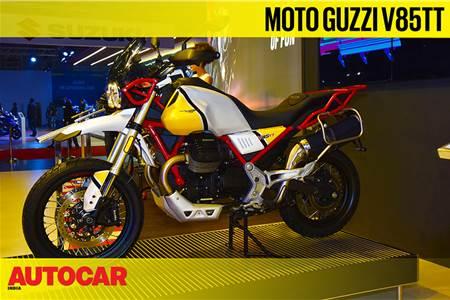Moto Guzzi V85 TT first look video