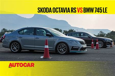 Autocar Drag Day: 400hp Skoda Octavia RS vs BMW 745Le Drag race video