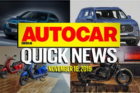 Quick News video: November 16, 2019