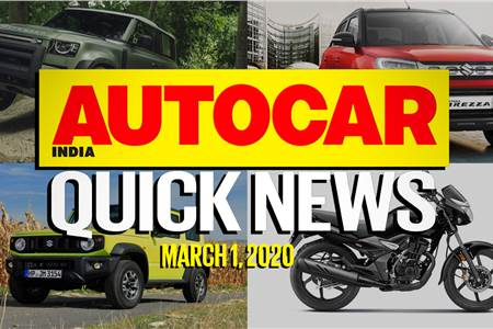 Quick News video: March 1, 2020
