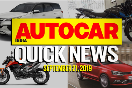 Quick News video: September 21, 2019