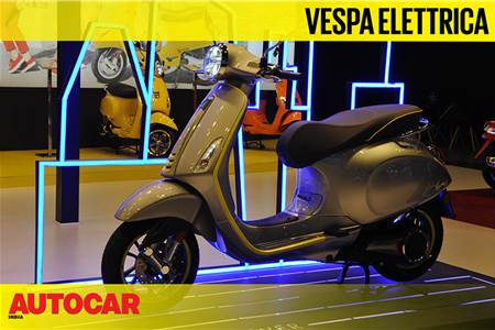 Vespa Elettrica first look video