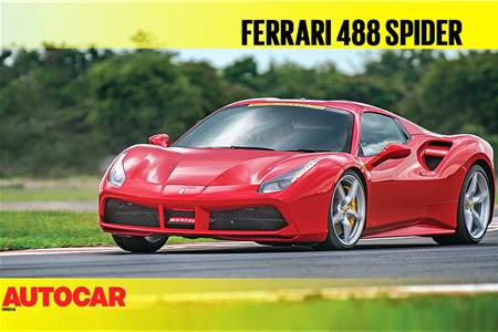 HOT LAP: Ferrari 488 Spider Autocar India Track Day 2018 video
