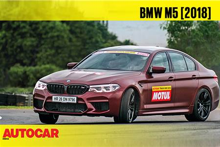 HOT LAP: 2018 BMW M5 Autocar India Track Day 2018 video