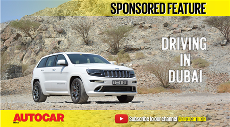 Dubai to Hatta in a Jeep Grand Cherokee SRT video