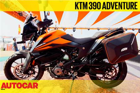 KTM 390 Adventure first look video