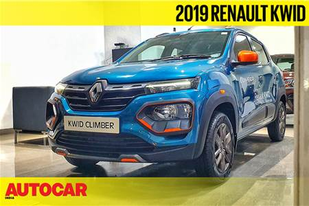 Renault Kwid facelift first look video