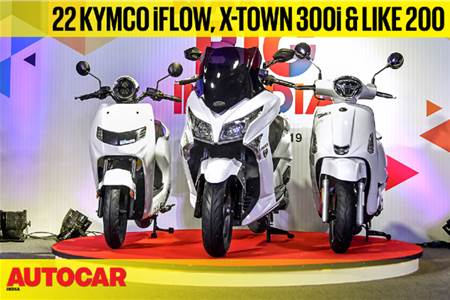 22 KYMCO iFlow, X-Town 300i and Like 200 first look video