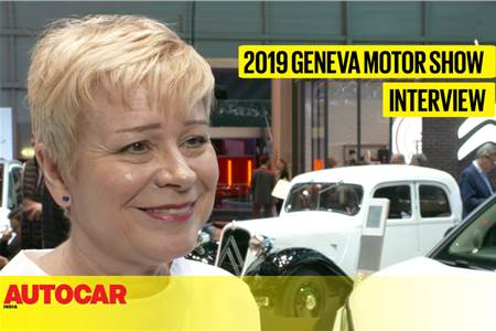 Linda Jackson, CEO, Citroen interview at Geneva motor show 2019 video