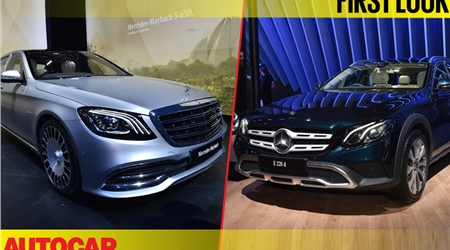 Mercedes range of cars at the 2018 Auto Expo first look video