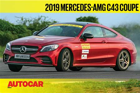 HOT LAP: Mercedes-AMG C43 Autocar India Track Day 2019 video