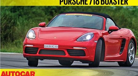 HOT LAP: Porsche 718 Boxster Autocar India Track Day 2018 video