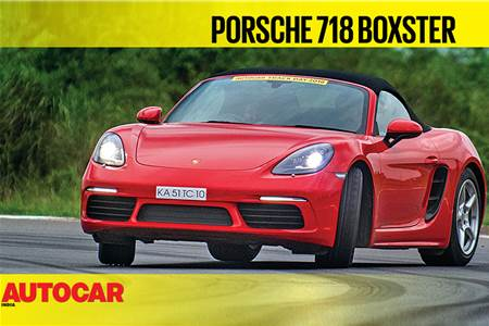 HOT LAP: Porsche 718 Boxster Autocar India Track Day 2018 video