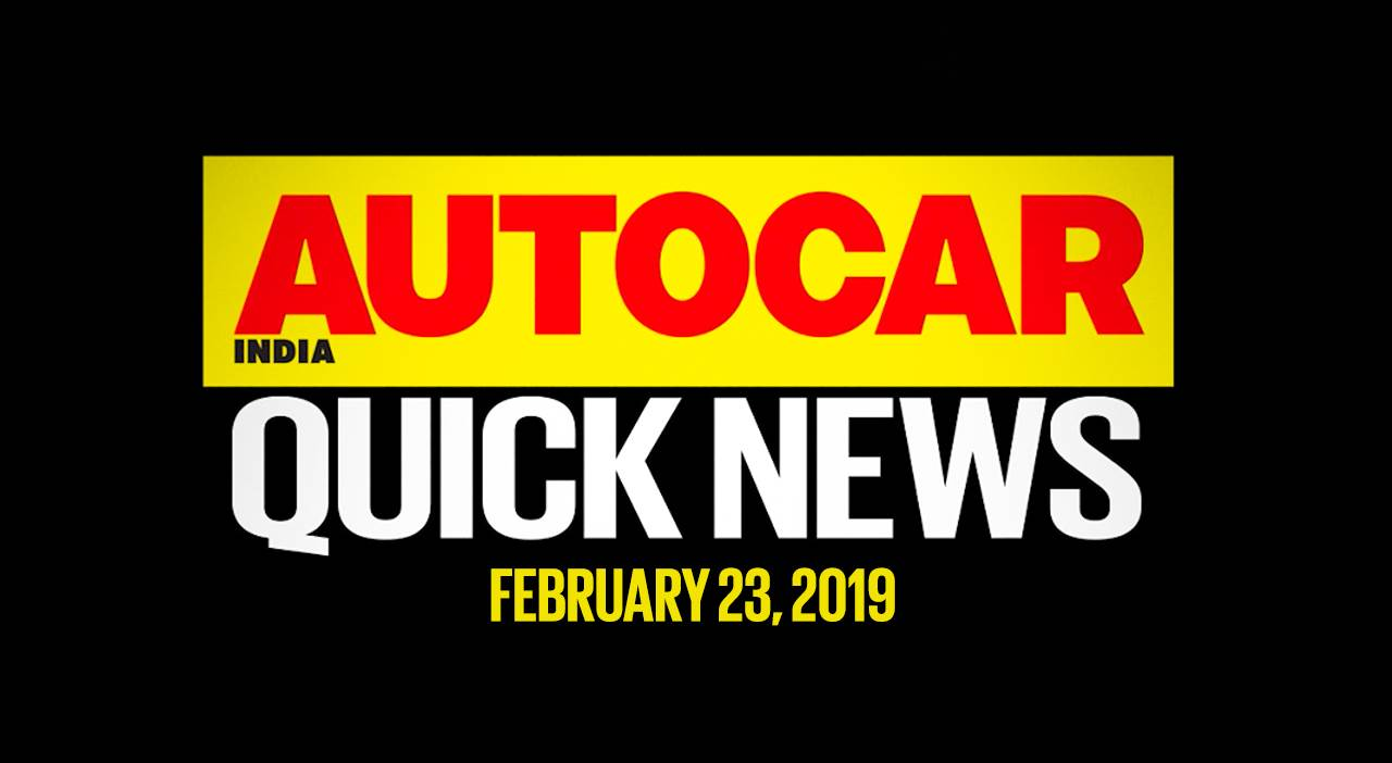 Quick News video: February 23, 2019